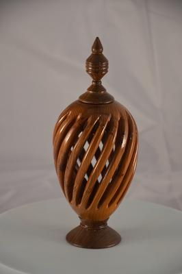 Woodturner in Dorset near Somerset. Woodturning art piece.